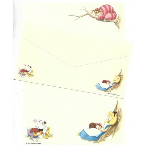 Conjunto de Papel de Carta VINTAGE Disney Alice in Wonderland DUPLA