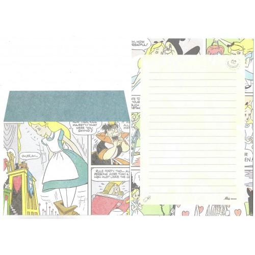 Conjunto de Papel de Carta Disney Alice in Wonderland COMICS