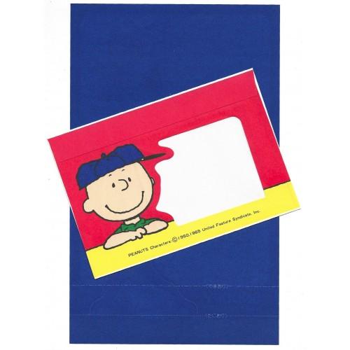 Conjunto de Papel de Carta Peanuts CAZ Vintage Japan