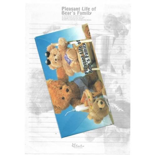 Conjunto de Papel de Carta Importado Bear's Family 5 Litte Fancy