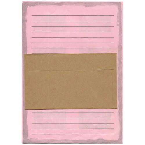 Conjunto de Papel de Carta Antigo Importado DOGS Pink