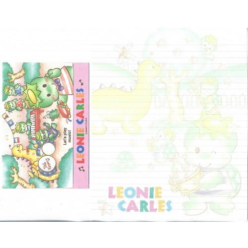 Conjunto de Papel de Carta Antigo Importado Leonie Carles