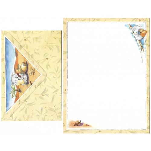 Conjunto de Papel de Carta Antigo Importado KOALA