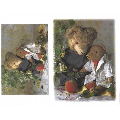Conjunto de Papel de Carta Antigo Importado Bears Alemanha