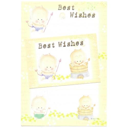 Conjunto de Papel de Carta Antigo Importado Best Wishes CLA