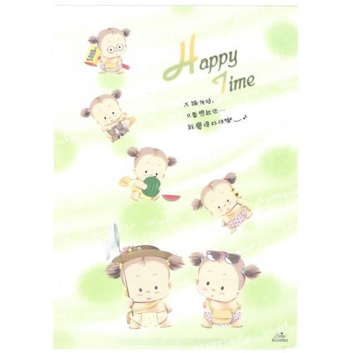 Papel de Carta AVULSO Antigo Importado Happy Time LARGE