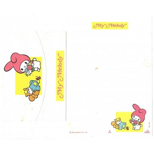 Conjunto de Papel de Carta My Melody ML-120 Antigo Butterfly