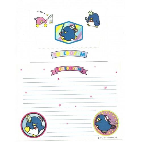 Ano 1986. Conjunto de Papel de Carta Tuxedosam Vintage Sanrio Argentina