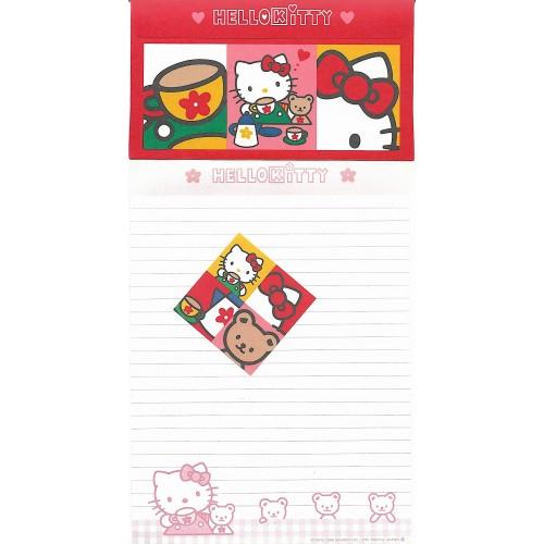 Ano 1996. Conjunto de Papel de Carta Hello Kitty Antigo (Vintage) Bears Sanrio