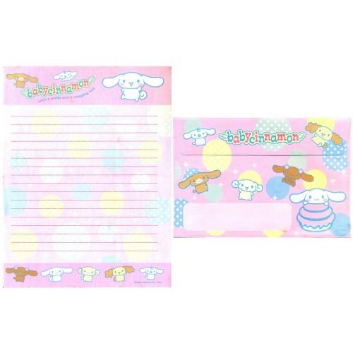 Ano 2002. Conjunto de Papel de Carta Baby Cinnamon CRS Sanrio