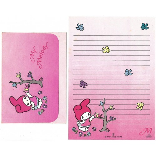 Conjunto de Papel de Carta My Melody M Antigo Butterfly