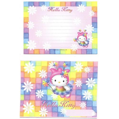 Ano 2001. Conjunto de Papel de Carta Hello Kitty Colors Sanrio