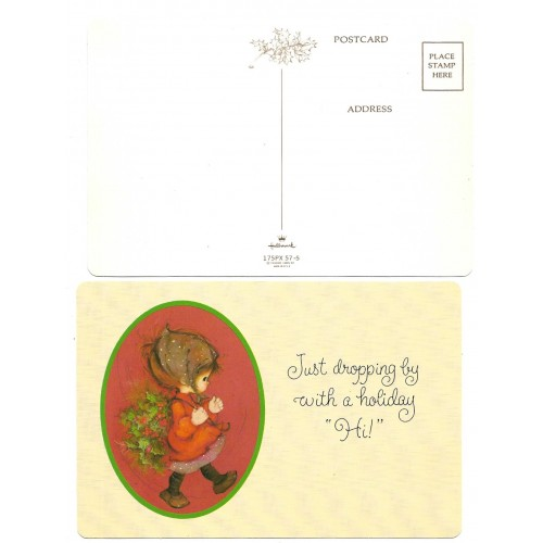 Postcard Antigo Importado Mary Hamilton Holiday HI Hallmark