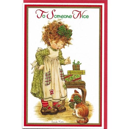 Notecard Cartão Antigo Importado G Sarah Kay 06