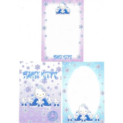 Ano 2000. Kit 3 Notas Hello Kitty Fairy Kitty Antigo (Vintage) Sanrio