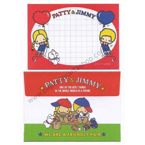 Ano 2017 Mini-Conjunto de Papel de Carta Sanrio Characters Patty & Jimmy