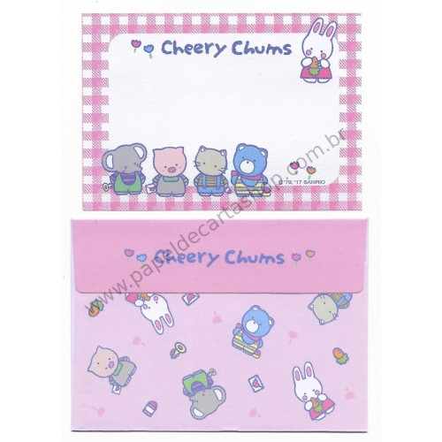 Ano 2017 Mini-Conjunto de Papel de Carta Sanrio Characters Cheery Chums