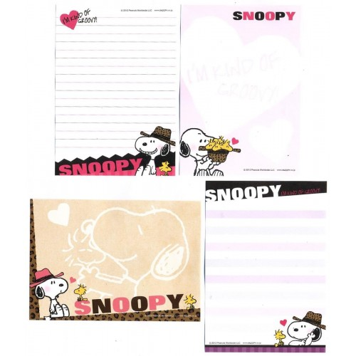 Ano 2012. Kit 4 Notas SNOOPY I'm Kind of Groovy