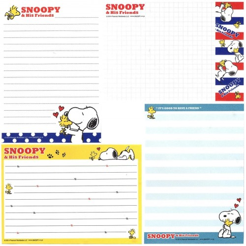 Ano 2014. Kit 4 Notas SNOOPY & His Friends Dots Blue