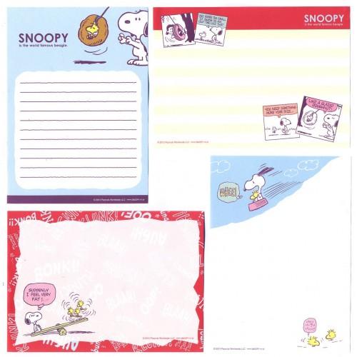 Ano 2013. Kit 4 Notas SNOOPY Beagle Peanuts Japan
