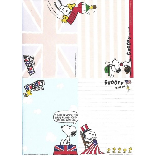 Ano 2012. Kit 4 Notas SNOOPY Travelling Japan