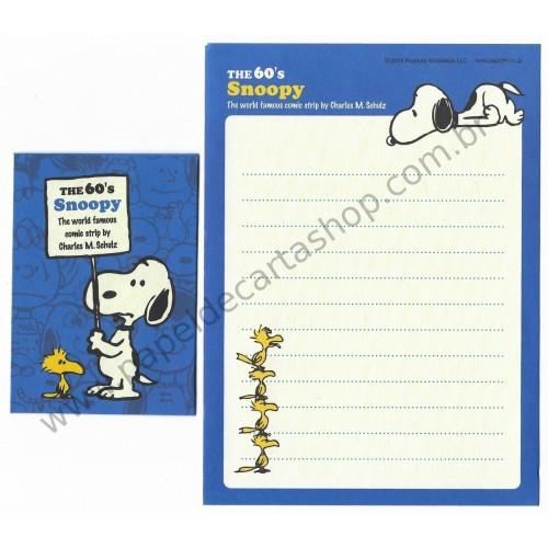 Kit 2 Conjuntos de Mini-Papéis de Carta 60's Snoopy Peanuts