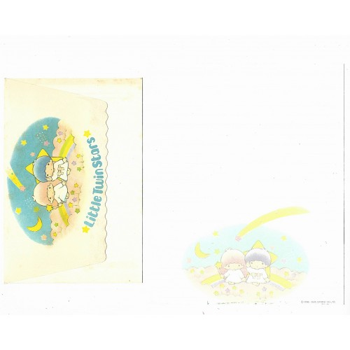 Ano 1985. Conjunto de Papel de Carta Little Twin Stars Sanrio ARG