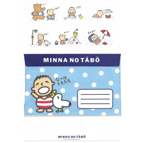 Ano 1990. Conjunto de Papel de Carta Minna no Tabo DUPLA Sanrio Vintage