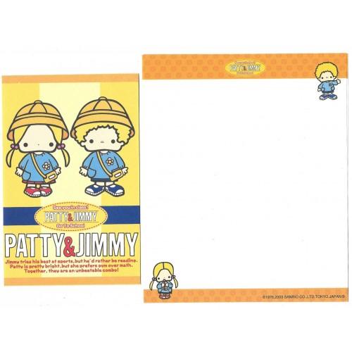 Ano 2003. Kit 4 Conjuntos de Papel de Carta Patty & Jimmy Sanrio