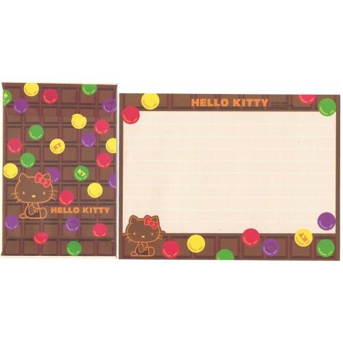 Ano 2001. Conjunto de Papel de Carta Hello Kitty Chocolat CMA Sanrio