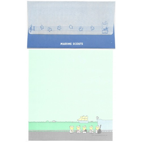 Ano 1984. Conjunto de Papel de Carta Marine Scouts SONY