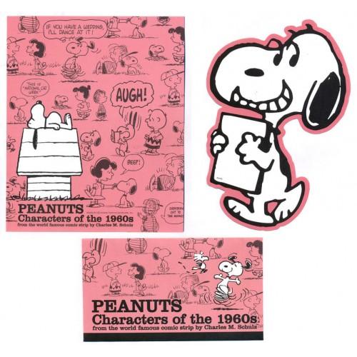 Conjunto de Papel de Carta Peanuts Characters of the 1960s - Peanuts
