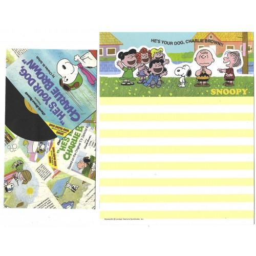 Conjunto de Papel de Carta Snoopy & Charlie Brown - Peanuts