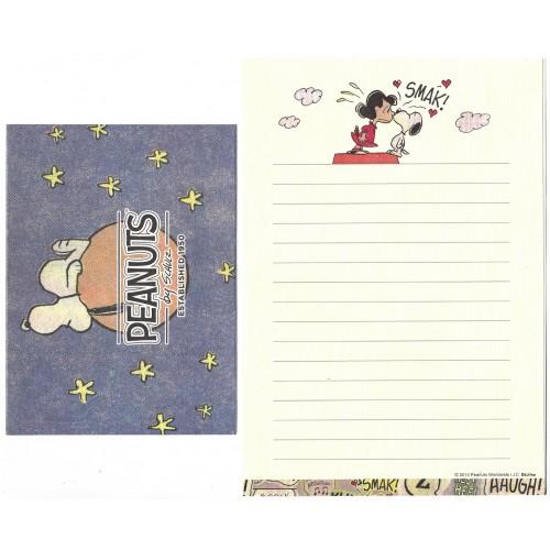 Conjunto de Papel de Carta Snoopy & Lucy Smack Peanuts Delfino Japan