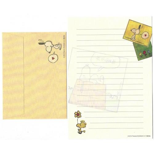 Conjunto de Papel de Carta Snoopy & Woodstock Smack Peanuts Delfino Japan