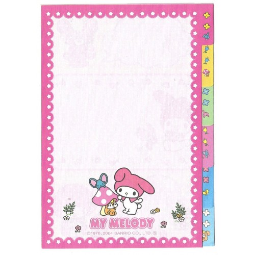 Ano 2004. Kit 6 Notas My Melody's Room Sanrio