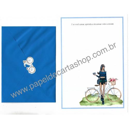 Conjunto de Papel de Carta com Envelope IT GIRLS FRASES - DANI