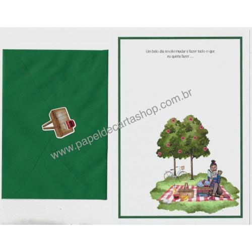 Conjunto de Papel de Carta com Envelope IT GIRLS FRASES - DRIKA