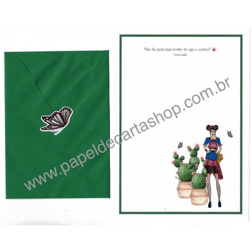 Conjunto de Papel de Carta com Envelope IT GIRLS FRASES - FRIDINHA