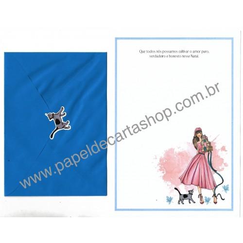 Conjunto de Papel de Carta com Envelope IT GIRLS FRASES - HOLLY