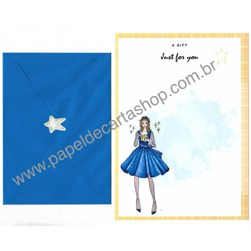 Conjunto de Papel de Carta com Envelope IT GIRLS FLOWERS - CHRIS