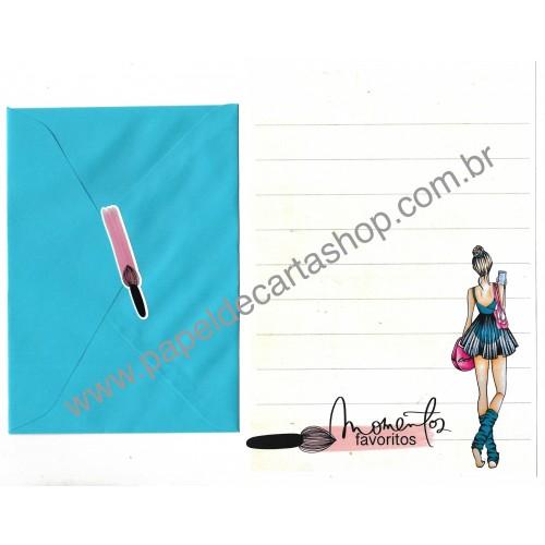 Conjunto de Papel de Carta com Envelope IT GIRLS FLOWERS - NATÁLIA