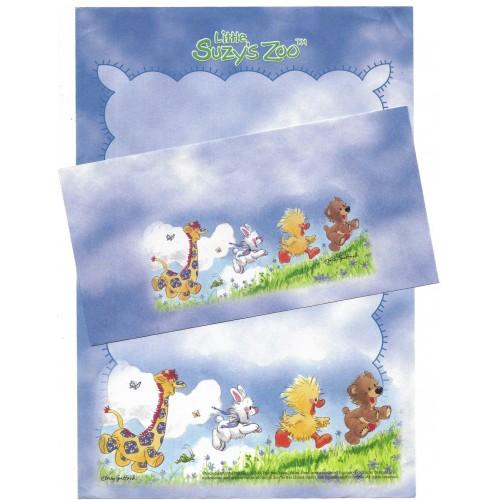 Conjunto Papel de Carta IMPORTADO Little Suzy's Zoo CAZ