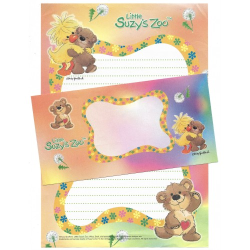 Conjunto Papel de Carta IMPORTADO Little Suzy's Zoo CLA
