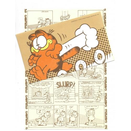 Conjunto de Papel de Carta Garfield Paws JAPAN