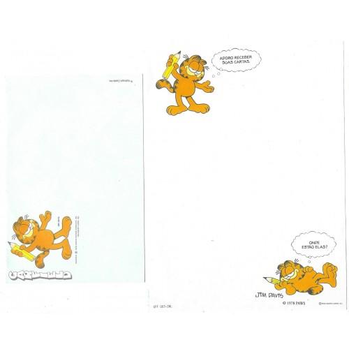 Conjunto de Papel de Carta Garfield CAZ A3 CARDS HALLMARK