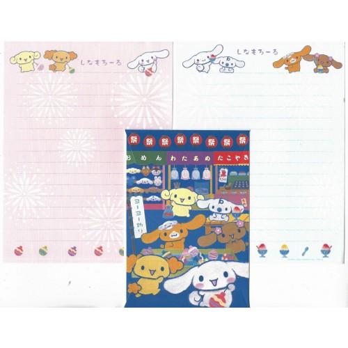 Ano 2006. Conjunto de Papel de Carta Cinnamoroll JAPAN Sanrio
