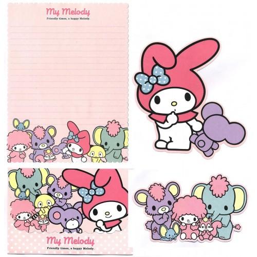 Ano 2011. Conjunto de Papel de Carta My Melody Friendly Times Sanrio