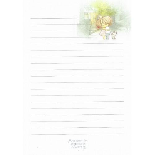 Papel de Carta Avulso Importado AMY & TIM 59