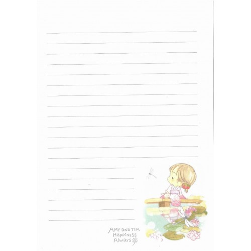 Papel de Carta Avulso Importado AMY & TIM 60